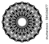 mandalas for coloring book.... | Shutterstock .eps vector #584106877