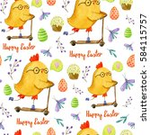 watercolor hand drawing pattern ...   Shutterstock . vector #584115757