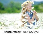 Little Girl In A Field Of...