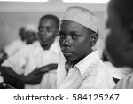 editorial use  boy at school in ... | Shutterstock . vector #584125267