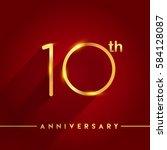 celebrating of ten years... | Shutterstock .eps vector #584128087