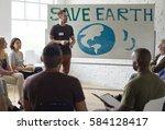 meeting presentation planning... | Shutterstock . vector #584128417