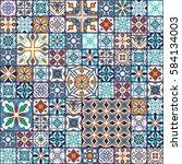 vector seamless texture.... | Shutterstock .eps vector #584134003