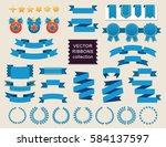vector ribbon set. banner... | Shutterstock .eps vector #584137597