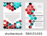abstract vector layout... | Shutterstock .eps vector #584151433