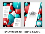 abstract vector layout... | Shutterstock .eps vector #584153293
