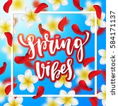 summer or spring background... | Shutterstock .eps vector #584171137