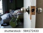 broke down the door | Shutterstock . vector #584172433
