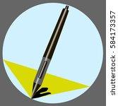 stylus pen for capacitive... | Shutterstock .eps vector #584173357