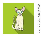 peterbald icon in flat style... | Shutterstock .eps vector #584182663
