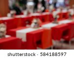 blurred red tables and chairs... | Shutterstock . vector #584188597