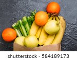 food background of fresh green... | Shutterstock . vector #584189173