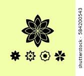 flower   Shutterstock .eps vector #584200543