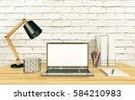 notebook computer display for... | Shutterstock . vector #584210983