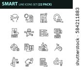 set of thin line business icons....