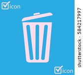 trash can icon. delete  move to ... | Shutterstock .eps vector #584217997