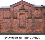 Old Red Brick Building Facade...
