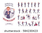 ready to use character set.... | Shutterstock .eps vector #584230423