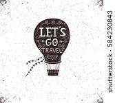 hand drawn textured vintage...   Shutterstock .eps vector #584230843
