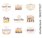 badge set for small businesses  ... | Shutterstock .eps vector #584257027