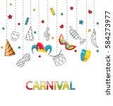 illustration greeting festive... | Shutterstock . vector #584273977