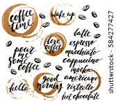 hand drawn ink lettering with... | Shutterstock .eps vector #584277427