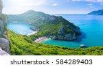 beautiful summertime panoramic...   Shutterstock . vector #584289403