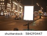 blank billboard with copy space ... | Shutterstock . vector #584293447