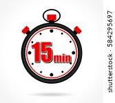 illustration of fifteen minutes ... | Shutterstock .eps vector #584295697