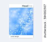 scientific brochure design... | Shutterstock .eps vector #584302507