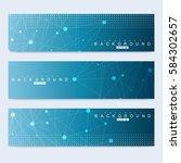 scientific set of modern vector ... | Shutterstock .eps vector #584302657