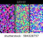 set of creative seamless vector ... | Shutterstock .eps vector #584328757
