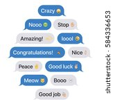 set of sms bubbles messages... | Shutterstock .eps vector #584336653