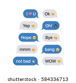 set of sms bubbles messages... | Shutterstock .eps vector #584336713