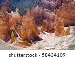 the famous brice canyon... | Shutterstock . vector #58434109