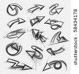 drawings of arrows   Shutterstock .eps vector #58434178