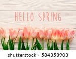 Hello Spring Text Sign ...