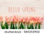 Hello Spring Text Sign ...
