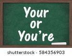 learning to use proper grammar  ...   Shutterstock . vector #584356903