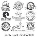 vector snowboarding bundle of...   Shutterstock .eps vector #584360353
