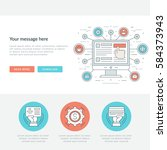 flat line business concept web... | Shutterstock .eps vector #584373943