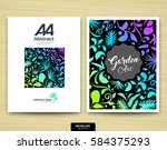 brochure template layout  cover ... | Shutterstock .eps vector #584375293