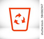 recycling icon stock vector... | Shutterstock .eps vector #584382547