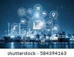 industry 4.0 concept  smart...   Shutterstock . vector #584394163