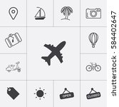 travel and tourism icons set.... | Shutterstock .eps vector #584402647