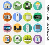 smart house and internet of... | Shutterstock .eps vector #584409007
