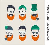 saint patrick's day set of... | Shutterstock .eps vector #584413567