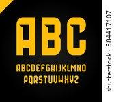 vector square alphabet simple... | Shutterstock .eps vector #584417107