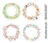 decorative spring  autumn ... | Shutterstock .eps vector #584425087