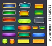 buttons set  form designed game ...